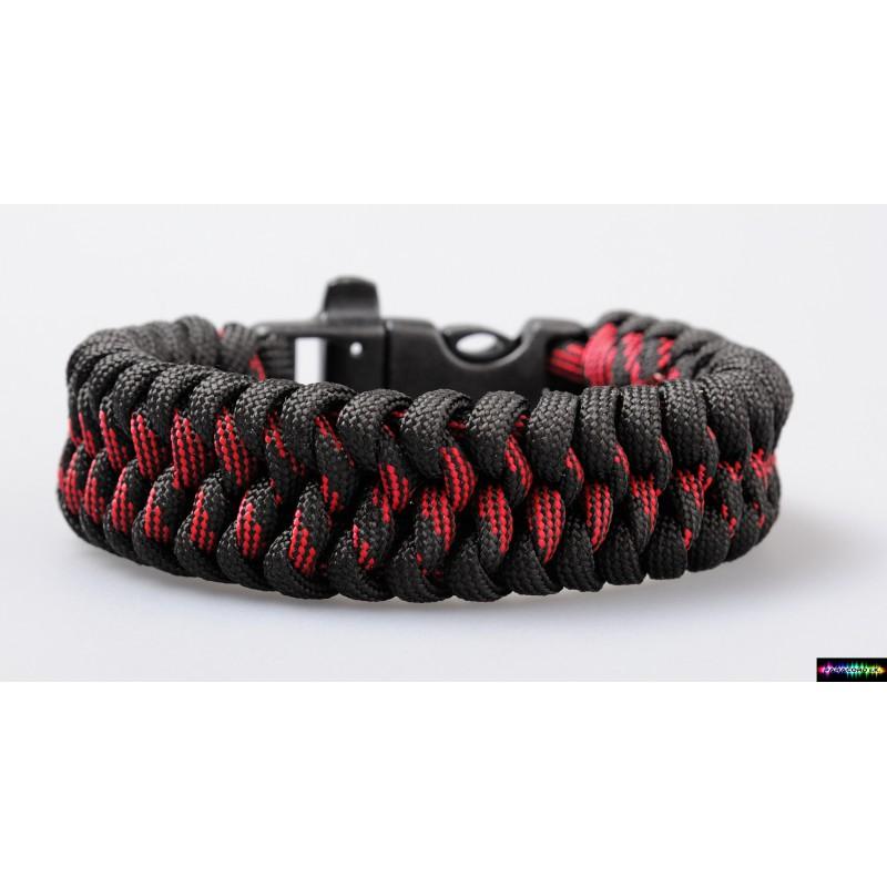 Beliebt Paracord ® Armband Feuer schwarz- rot Camo - Paracord e.K. GR61