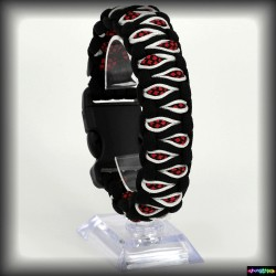 Armband Kapla - Schwarz - Diamond Rot -