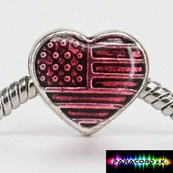 Beads Tibet Charms aus Metall - I Love USA -