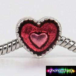 Zylinder Tibet Charms - Herz im Herzen -