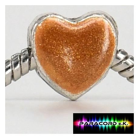 Beads Tibet Charms aus Metall - Goldenes Herz -