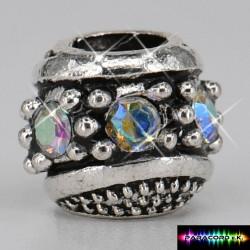 Zylinder Tibet Charms Beads mit Stein