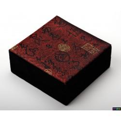 Geschenk-Verpackung Weinrot aus schwarzer Samt