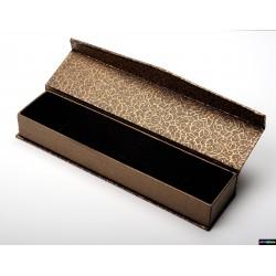 Geschenk-Verpackung aus Karton Gold-Braun