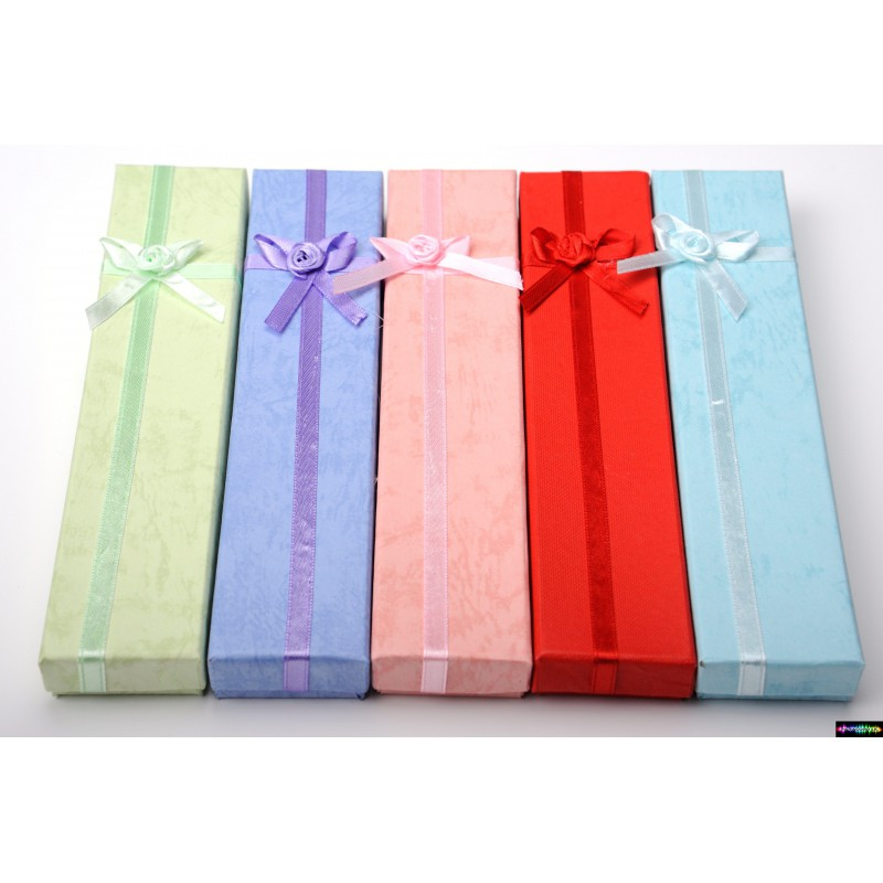geschenk verpackung aus karton mit schleife in vielen farben paracord e k. Black Bedroom Furniture Sets. Home Design Ideas