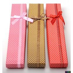 Geschenk-Verpackung aus Karton mit Schleife Linsen in vielen Farben