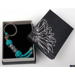 Schlüsselanhänger Türkis mit hellblau Steine