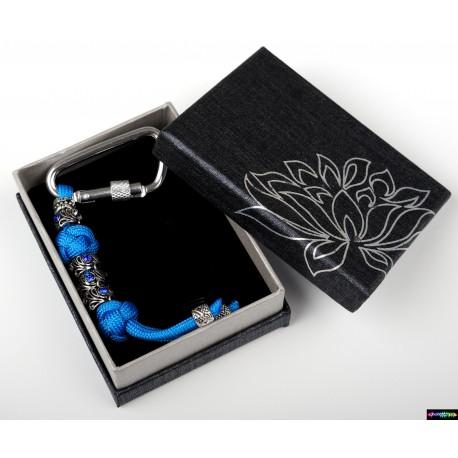 Schlüsselanhänger Azure mit blau Steine