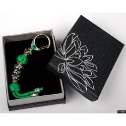 Schlüsselanhänger Grün mit grün Steine