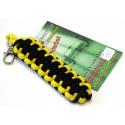 Schlüsselanhänger Paracord ® doppelt basic gelb-schwarz